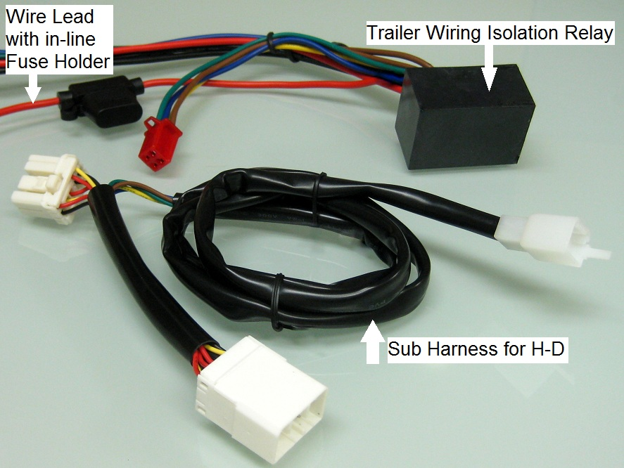 Plug and play trailer wiring relay harness for harley