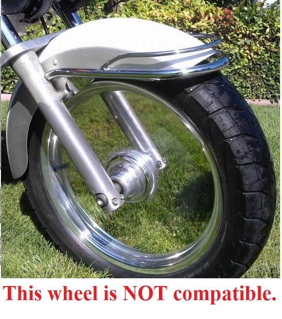 Image of wheel tht is NOT compatible with Slick Wheelie