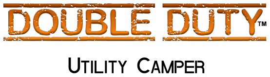 Double Duty Utility Camper Trailer Title Image