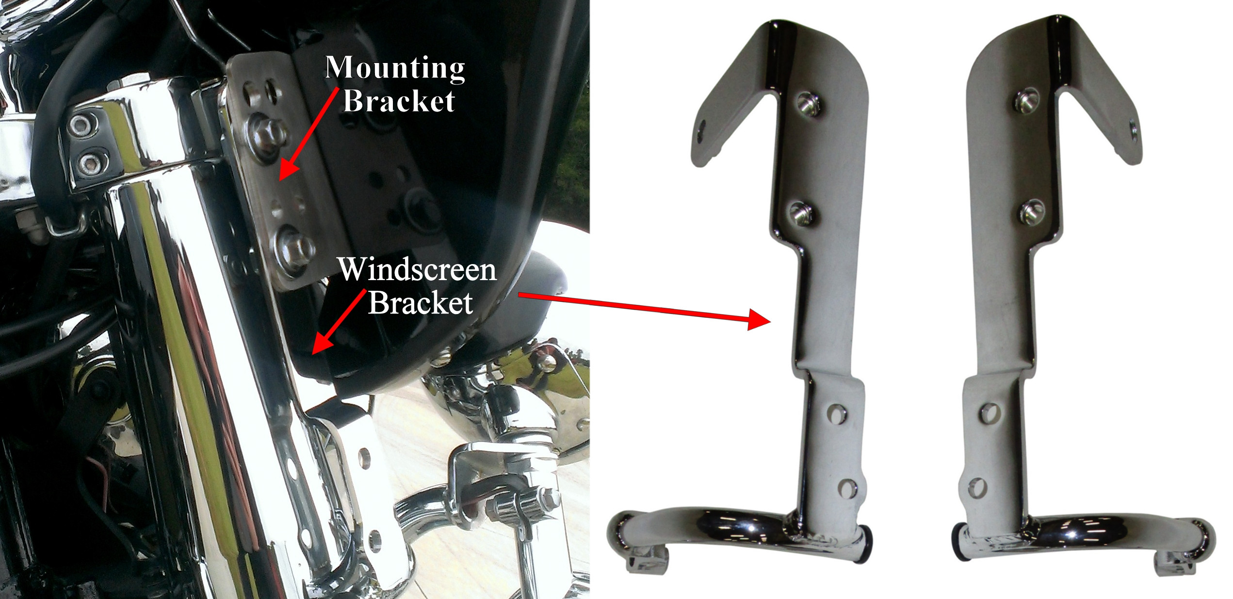 Yamaha Road Star Silverado Windshield Mount